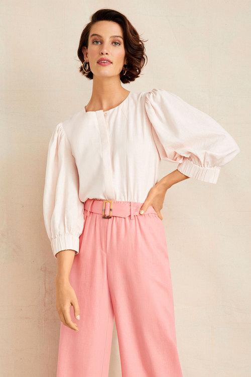 Grace Hill Linen Blend Shirt