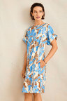 Grace Hill Cuffed Sleeve Shift Dress