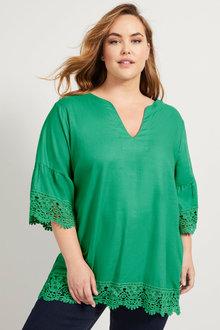 Sara Linen Lace Top - 253315