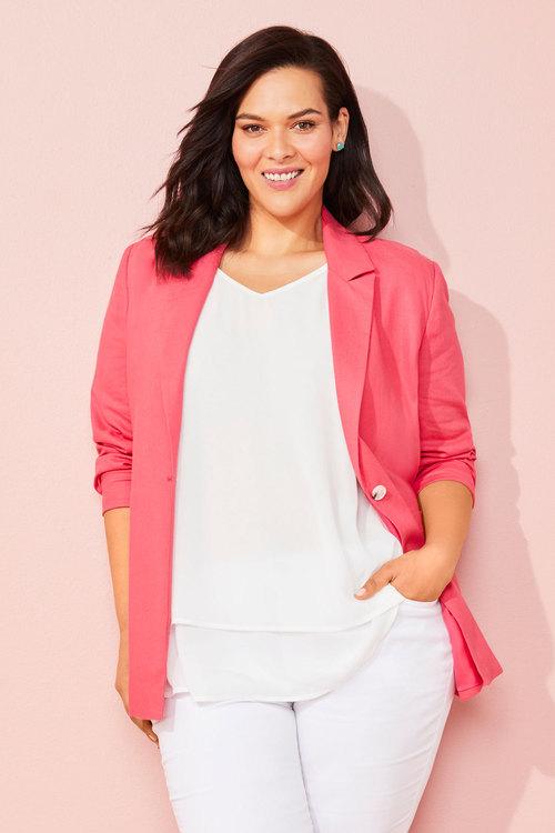Sara Patch Pocket Blazer