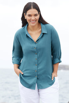 Sara Longline Linen Shirt - 253318