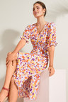 Emerge Printed Midi Dress