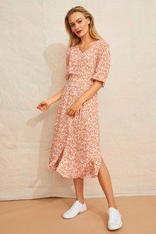 Emerge Printed Midi Dress - 253320