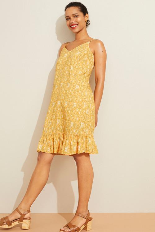 Emerge Ruffle Hem Slip Dress