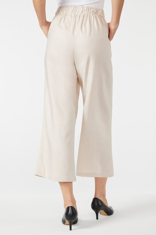 Emerge Linen Blend Crop Pant