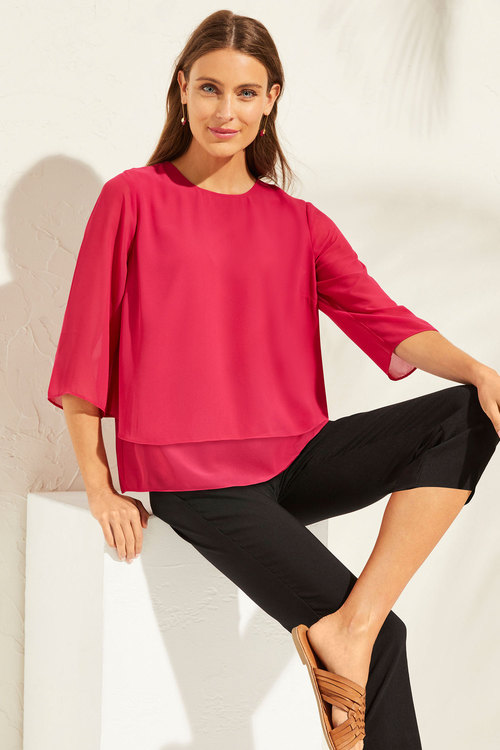 Capture Layered Chiffon Top