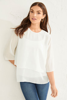 Capture Layered Chiffon Top - 253334