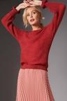 Emerge Fluffy Ruffle Sleeve Sweater