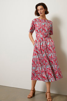 Grace Hill Belted Tea Dress - 253371
