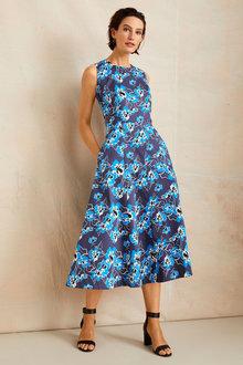 Grace Hill Structured Midi Dress - 253372