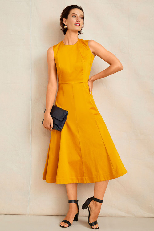 Grace Hill Structured Midi Dress