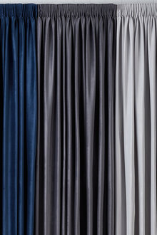 Velvet Pencil Pleat Curtains - 253378