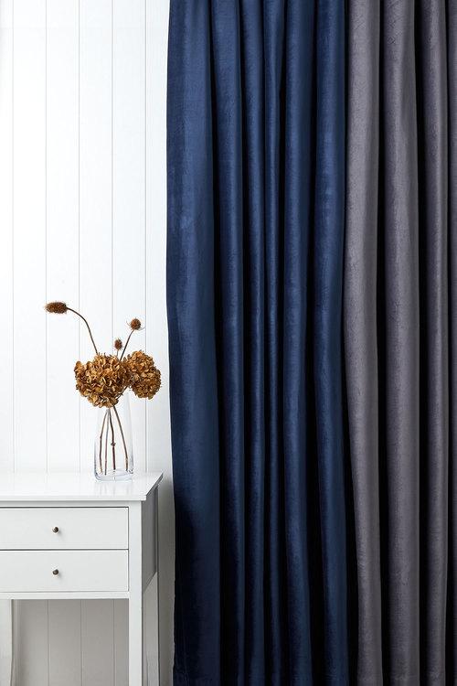 Velvet Eyelet Curtains
