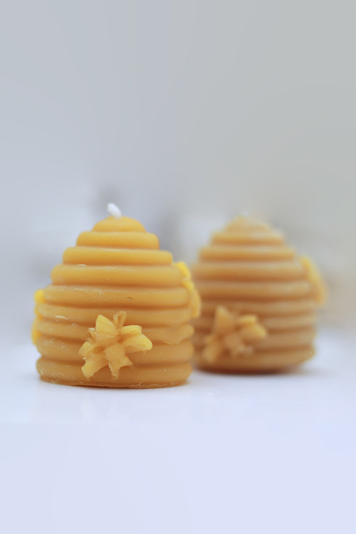 Hexton Beehive Moulded Candle 3 Pack