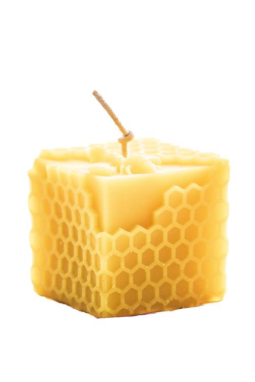 Hexton Honeycomb Cube Candle