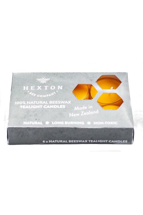 Hexton Beeswax Tealight Candle Set of Six