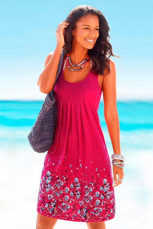 Urban Hem Print Beach Dress