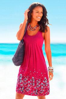 Urban Hem Print Beach Dress - 253401