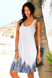 Urban Hem Print Beach Dress - 253402