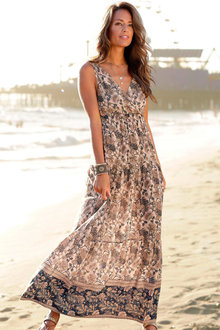 Urban V Neck Maxi Dress - 253404