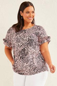 Sara Ruffle Sleeve Top - 253423