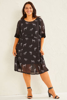 Sara Panel Tuck Dress - 253425