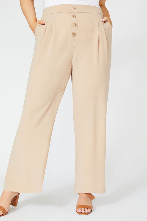 Sara Wide Leg Button Pant