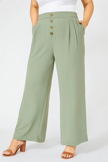 Sara Wide Leg Button Pant - 253426