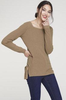 Heine Tie Side Sweater - 253434