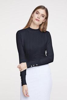 Heine Button Cuff Sweater - 253435