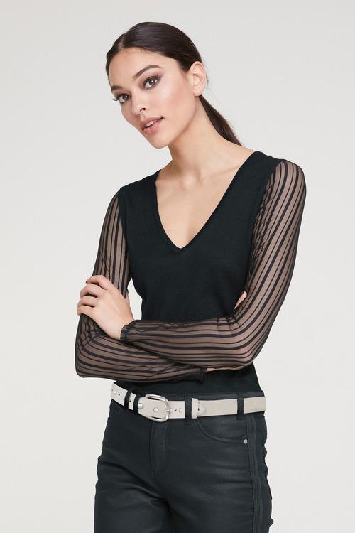 Heine Stripe Sleeve Top