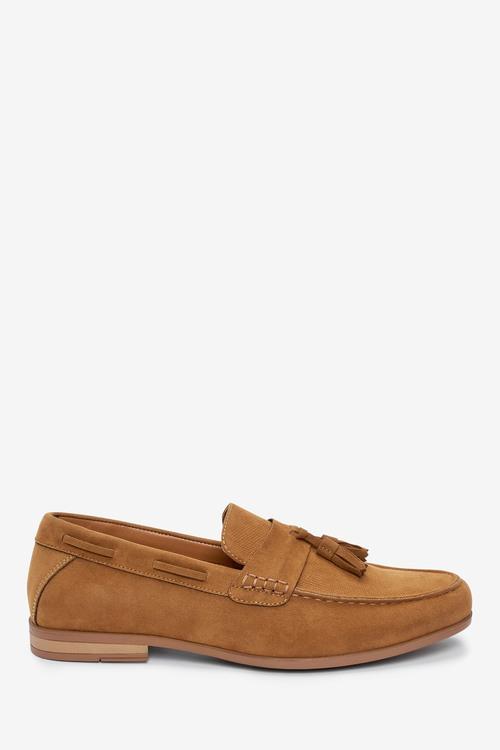 Next Textured Tassel Loafers