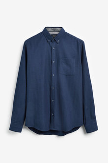 Next Herringbone Long Sleeve Shirt - 253448