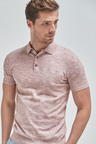 Next Short Sleeve Marl Knitted Poloshirt