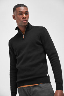 Next Premium Zip Neck Jumper - 253452
