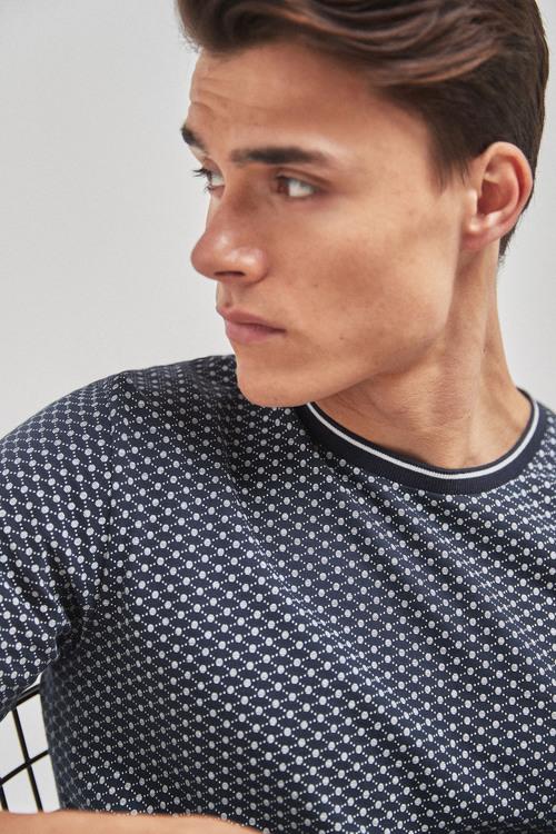 Next Geometric Print T-Shirt