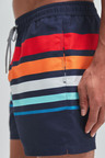 Next Rainbow Stripe Swim Shorts