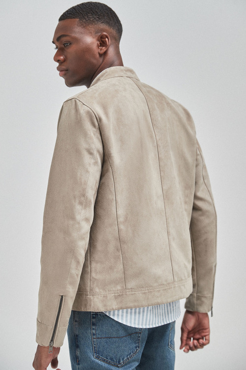 Next Faux Suede Racer Jacket