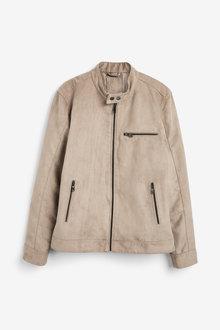 Next Faux Suede Racer Jacket - 253460
