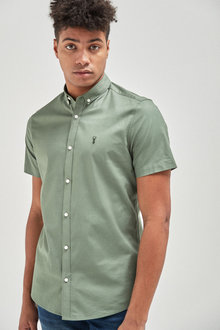 Next Short Sleeve Stretch Oxford Shirt - 253465