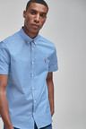 Next Gingham Short Sleeve Stretch Oxford Shirt