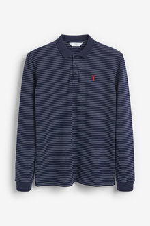 Next Long Sleeve Pique Polo - 253469