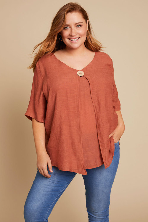 Sara Button Layer Top