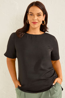 Sara Hammered Woven top - 253838