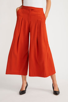 Grace Hill Pleat Front Drapey Culotte - 253848