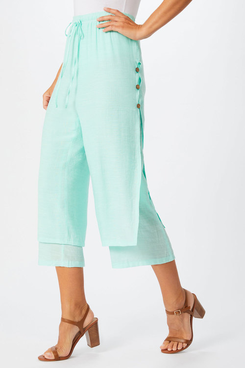 Grace Hill Textured Bottom Layered Pant