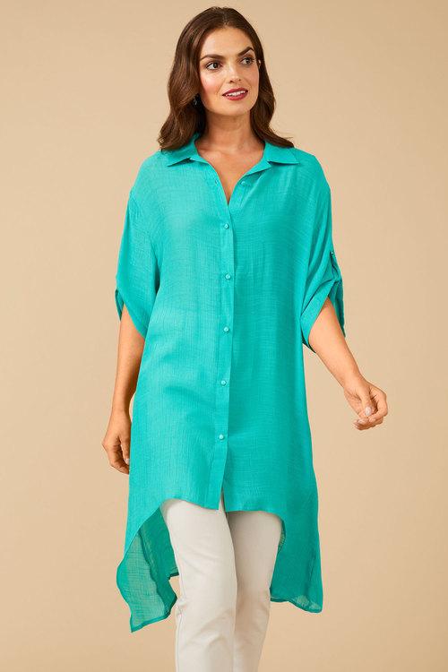 Grace Hill Textured Longline Shirt
