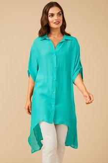 Grace Hill Textured Longline Shirt - 253850