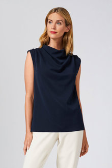 Grace Hill Pleated Cowl Neck Top - 253851