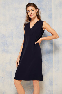 Grace Hill V Neck Shift Dress - 253853